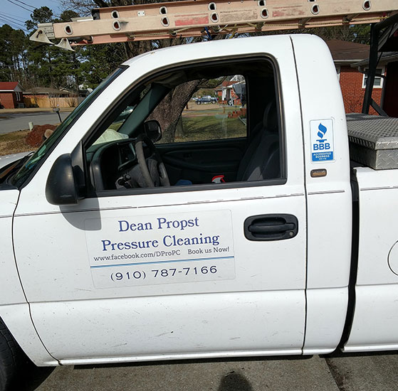 Dean Propst Pressure Cleaning  truck